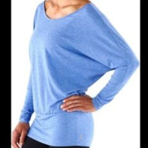 Lucy Yoga Girl Top with Dolman Sleeves, size L